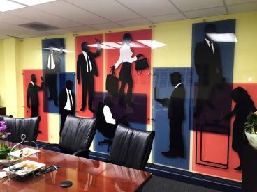 Glass Wall Mural for Meeting Rooms