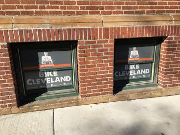 Bike Cleveland Window Graphics