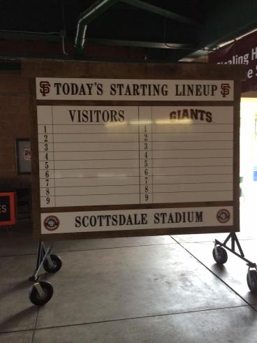 Spring Training Lineup Board