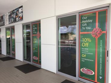 Chapman Automotive window graphics Tempe-Chandler Arizona