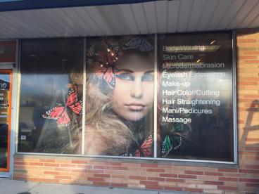 Window Graphics - Salon Destino-Strongsville, OH