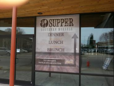Window Signage For Supper Southern Morsels