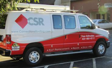 Vehicle Wrap for Cornerstone Roofing
