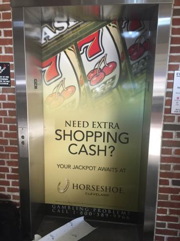 Elevator Graphics - Horseshoe Casino and Crocker Park
