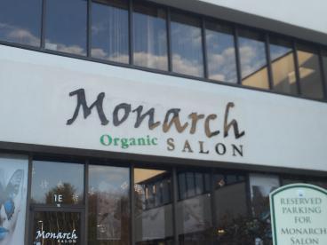 Building Letters for Monarch Salon