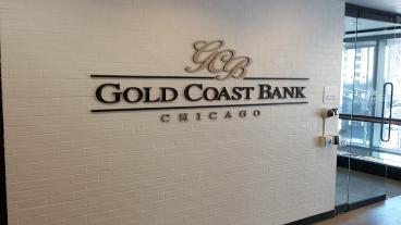 3D Komatex Lettering w/ Gold Vinyl Face - Client: Gold Coast Bank