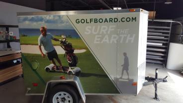 Full Trailer Vinyl Wrap - Client: Billy Casper Golf