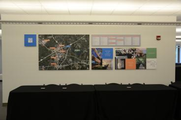 Multi-panel wall display