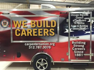 Trailer Wrap  - Chicago Carpenters' Union