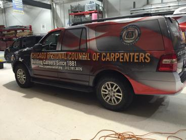 SUV Wrap - Chicago Carpenters' Union