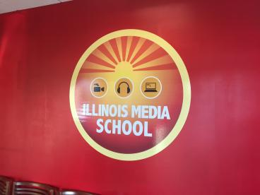 Logo Wall Mural - Illinois Media School Re-Branding - Lombard and Chicago