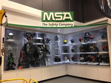 MSA Fire Helmet Display case