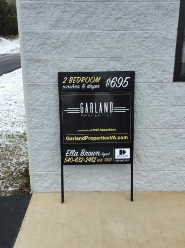 Garland Properties Metal Real Estate Sign