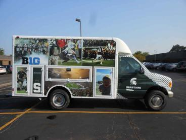 Spartan Vehicle Wrap - Michigan State Fan