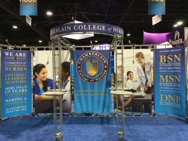 Trade Show Display - Chamberlain College of Nursing - Downers Grove, IL