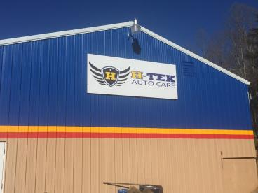 Sign for H-Tek Auto Care