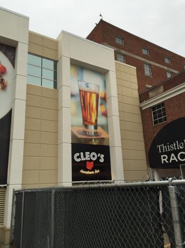 Wall Mural at JACKS Thistedown Racino - Cleo's Hometown Bar