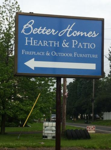 Better Homes Hearth and Patio Backlit sign