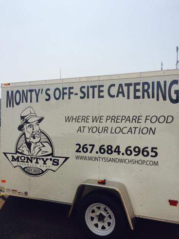 Monty's Off-Site Catering Trailer