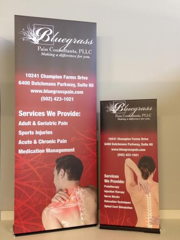 Retractable Banner for Blugrass Pain Consultants