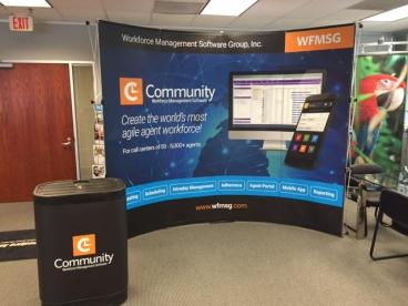 Workforce Management Software Group Trade Show Display In Plano, Texas.