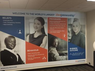 Large Mounted Poster Print for HCL America in Frisco, Texas.
