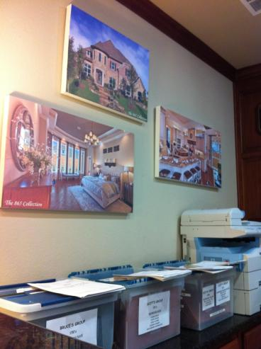 Canvas Prints for Landon Homes in Plano, Texas!