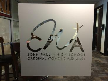 Frosted Window Graphic for John Paul II HS!