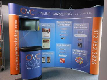 Trade Show Booth and Podium - OVC Online Marketing