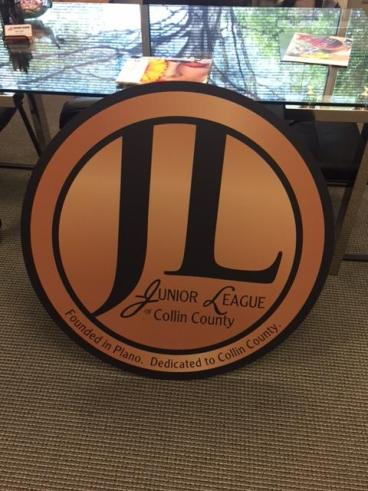 New Logo sign for the Collin County Junior League located in Plano, Texas!