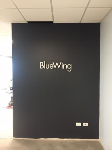 Raised Lettering - Blue Wing