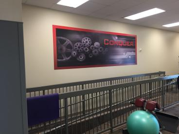 Wall Graphics at The Wellness Center in Johnson City