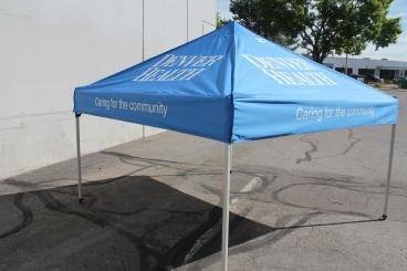 Denver Health Printed Tent Graphic denver, CO