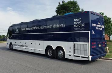 Team Novo Nordisk Cycling Team Support Bus