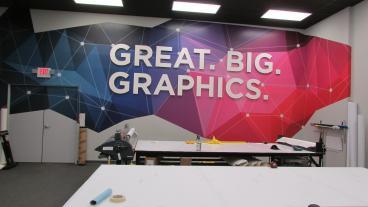 SpeedPro Alpharetta Dimensional Lettering & Wall Graphics