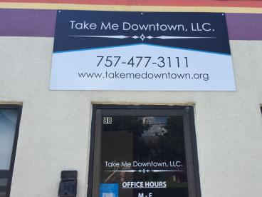 Outdoor Signage for Take Me Downtown