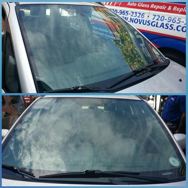Fixed windshield of a Boulder, CO customer.