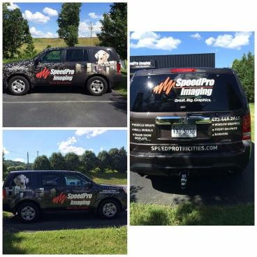 Our company vehicle wrapped