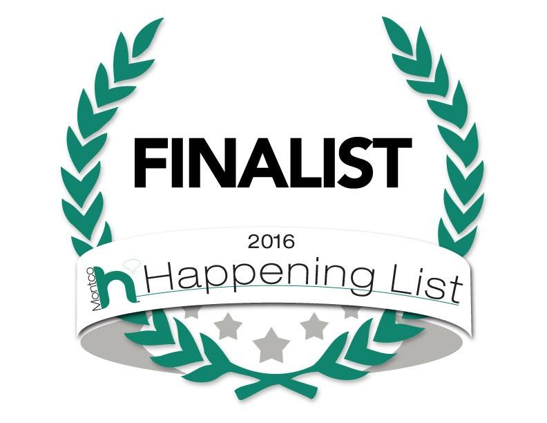Happening Finalist Two Years In a Row!