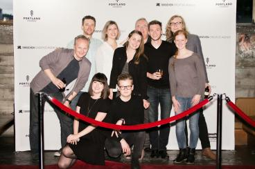 Portland Creatives Event Hosted by 100Seven - Red Carpet 10' Fabric Popup - Photo Op