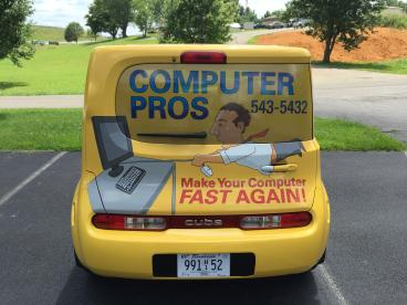Full Nissan Cube Wrap for Computer Pros