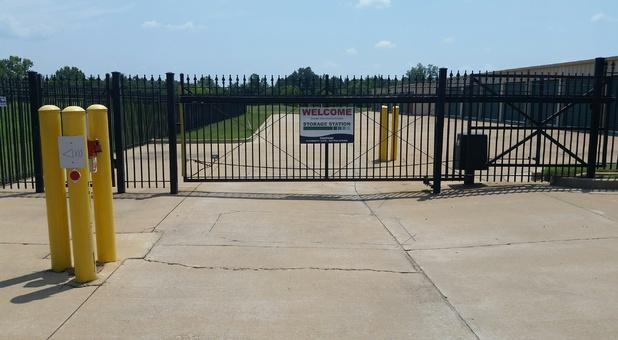 Security gate that requires access code in and out.