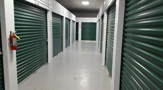 Climate Controlled Units with wide hallways.