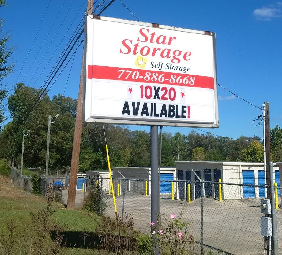 Star Storage Sign 10x20