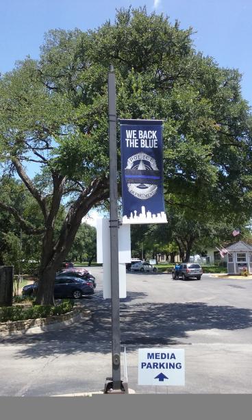 Dallas Police Cemetery Pole Banners