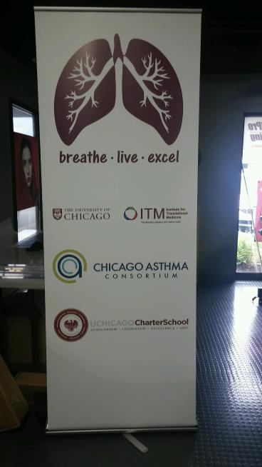 Banner Stand - Chicago Asthma Consortium