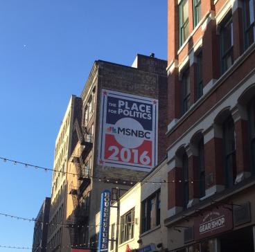 Giant Banner for MSNBC and Republican National Convention