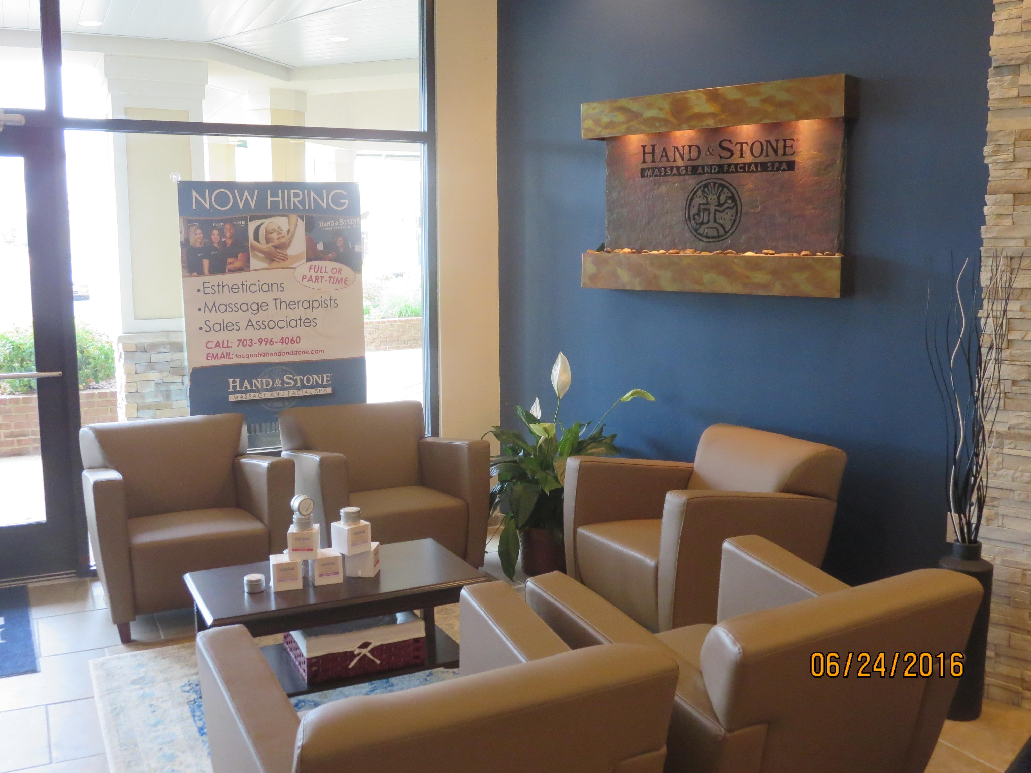 Relaxing reception area