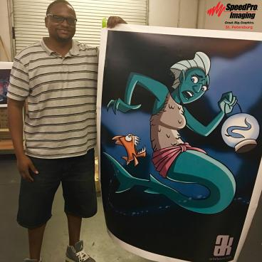 Mermaid Concept Art - Large Poster