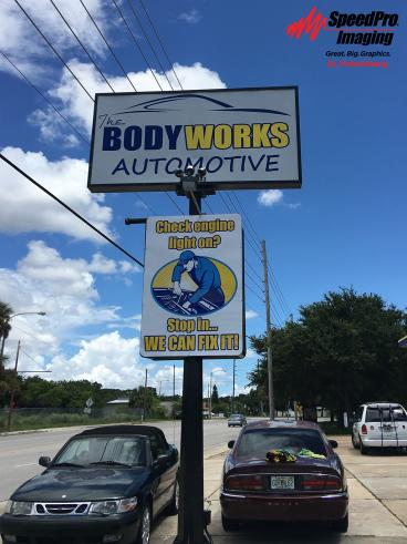 Exterior Signage (The Body Works)
